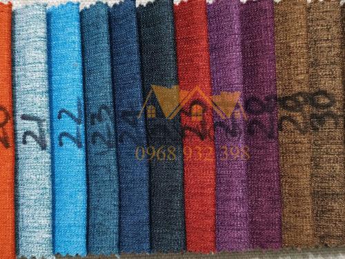 Bảng màu của mẫu vải thô K24