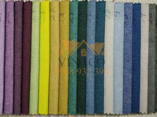 Bảng màu của mẫu vải thô bọc ghế N57