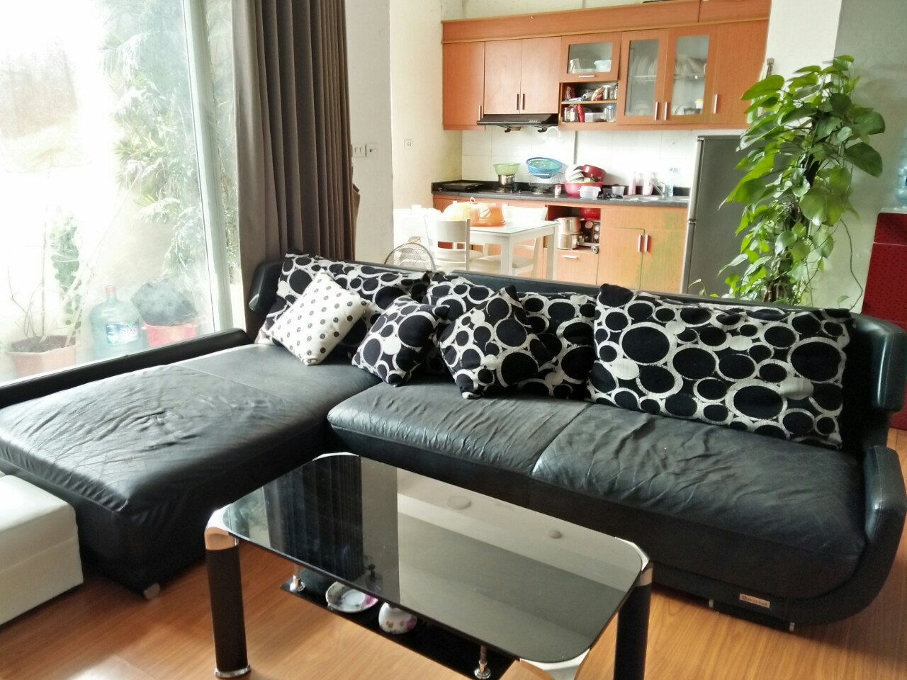Bộ ghế sofa của gia đình anh Phương tại khu đô thị Nam Cường