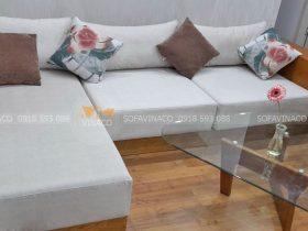 Bọc ghế sofa nhà chị Phương tại chung cư Pack View N10 dịch vọng đã hoàn thành