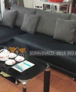Bọc ghế sofa da cho gia đình anh Phương tại khu đô thị Nam Cường