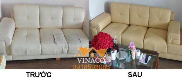 Công trình bọc ghế sofa tại nhà của khách hàng