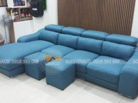 Bọc ghế sofa cho gia đình anh Hưng tại Lạc Long Quân, Hà Nội đã hoàn thành
