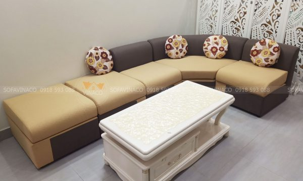 Ghế sofa đã được bọc lại và cho ra diện mạo đẹp hơn mới mua