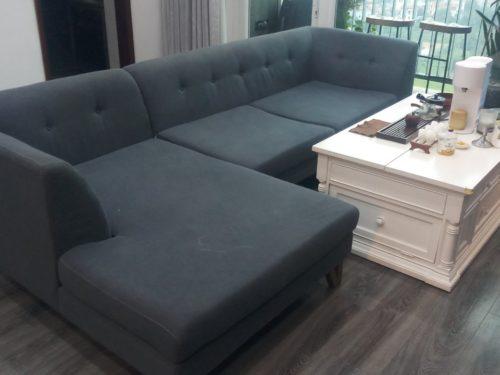 Bộ sofa vải của anh Sinh
