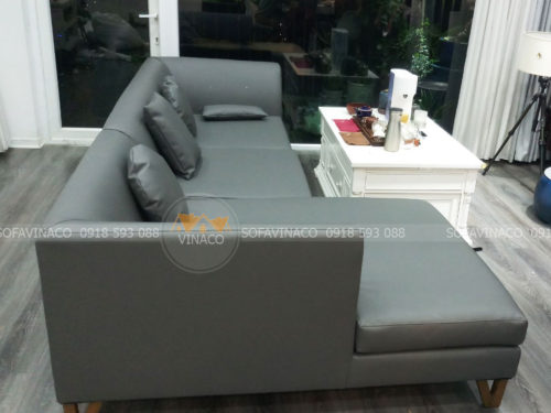 Công trình bọc ghế sofa da cho anh Sinh ở Tây Mỗ đã được hoàn thành