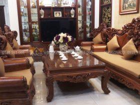 Đệm ghế cho bộ ghế hoàng gia cho nhà cô Bích tại Long Biên