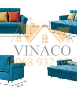 Mẫu ghế sofa giường ngả tựa lưng
