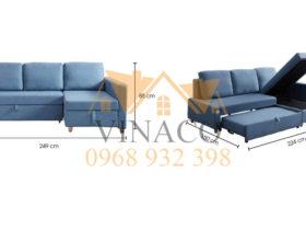 Mẫu ghế sofa giường góc L