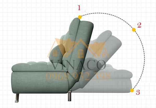 Ghế có thể ngả 3 nấc rất tiện dụng cả khi ngồi và nằm