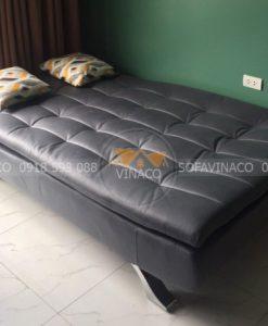 Mẫu ghế sofa giường màu xám đậm