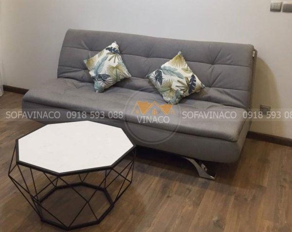 Mẫu ghế sofa giường màu ghi xám