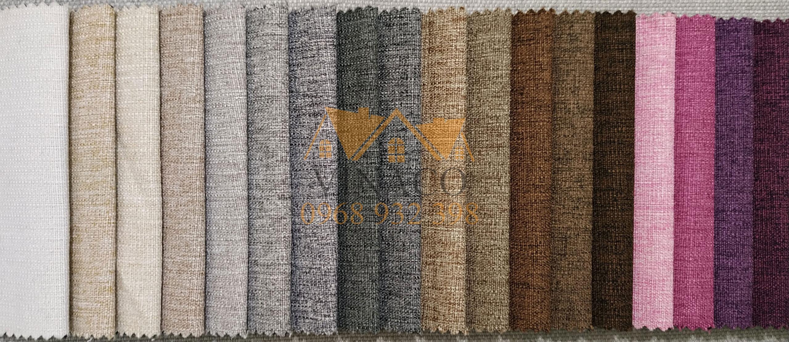 Các màu của mẫu vải H18 chuyên dùng làm đệm ghế và bọc sofa