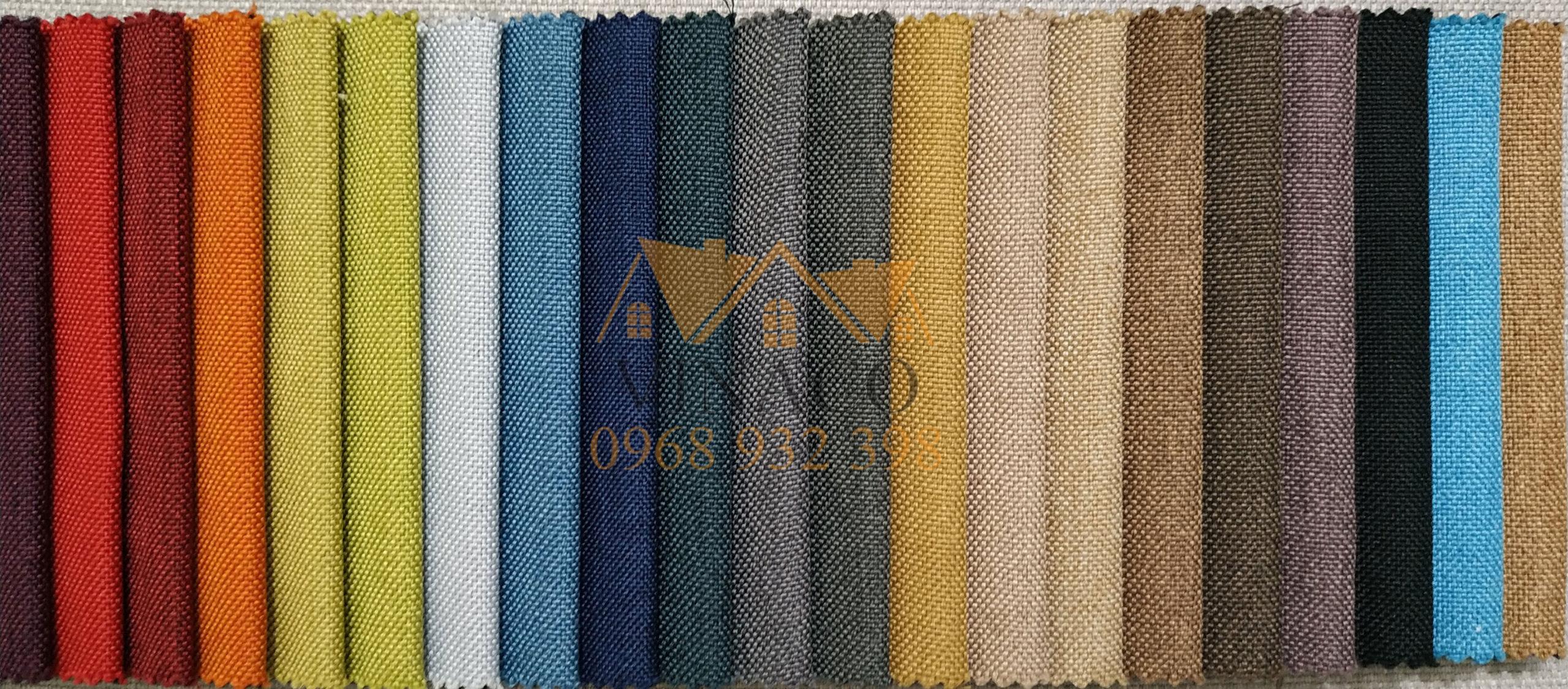 Các màu của mẫu vải thô H21 chuyên làm đệm ghế và bọc ghế sofa