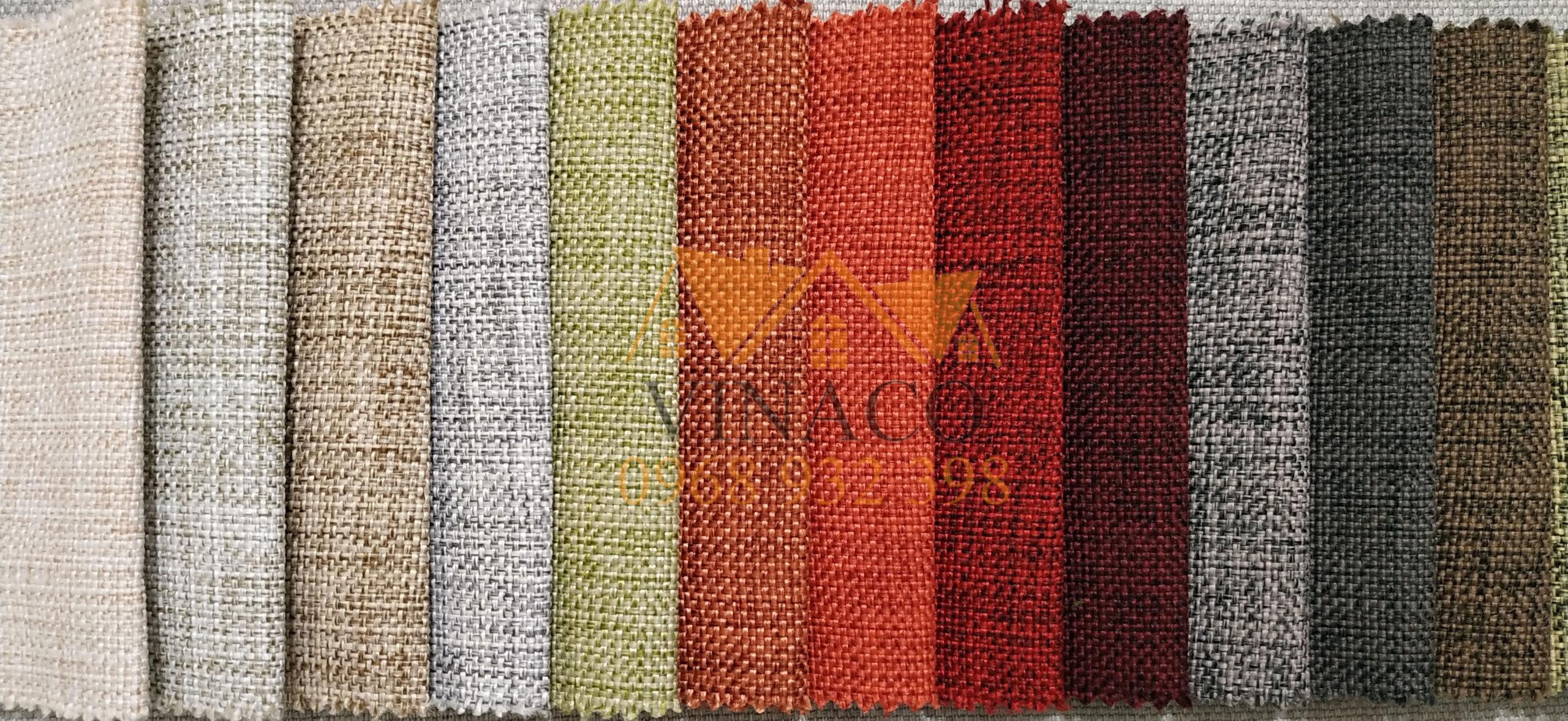 Bảng màu của mẫu vải thô H28