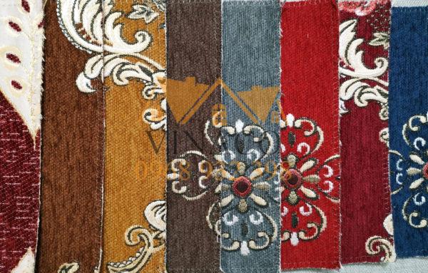 Vải hoa vặn cổ điển thích hợp làm đệm ghế giả cổ, đồng kỵ