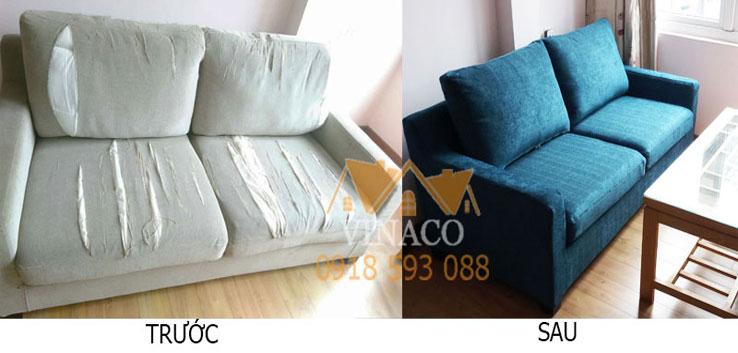 Bọc ghế sofa cũ thành sofa mới dù da hay vải tại công ty Vinaco