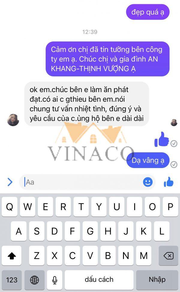 Những lời đánh giá của chị Thanh về dịch vụ làm đệm ghế tại công ty Vinaco