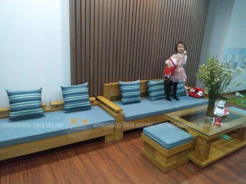 Bộ đệm ghế được làm từ bông ép cứng không xẹp lún