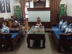 Đệm ghế tay vịn quốc đào tại Nguyễn Trãi, Hà Nội