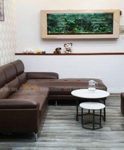 Bộ sofa đóng mới đã được hoàn thành cho anh Hải ở Nguyễn Xiển, Thanh Xuân