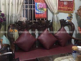 Đệm ghế da simili cho chị Vân tại tỉnh Bình Phước
