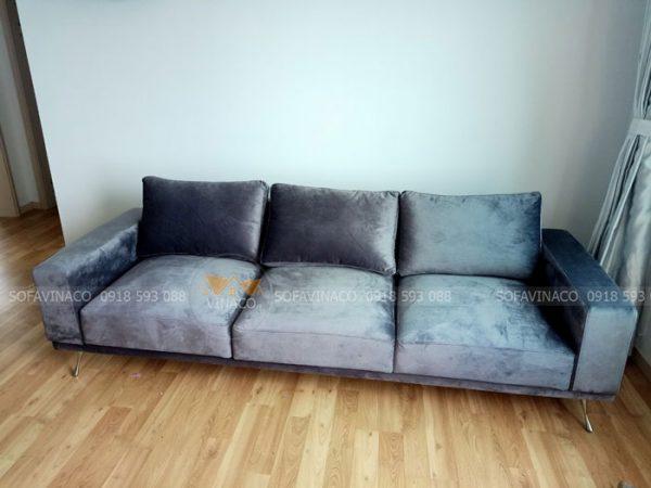 Ghế được bọc lại bằng vải nhung