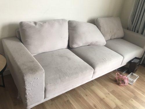 Ghế sẽ cần được bọc sang một loại vải mới hạn chế mèo cào