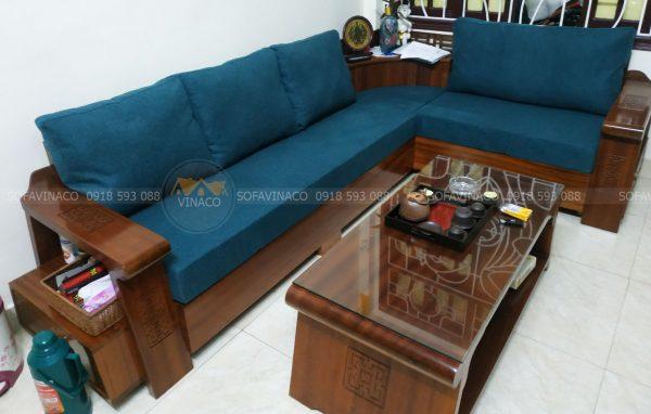 Làm đệm ghế sofa góc L cùng Vinaco
