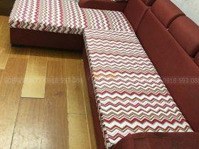 Sofa đã được thay vỏ đệm ngồi mới