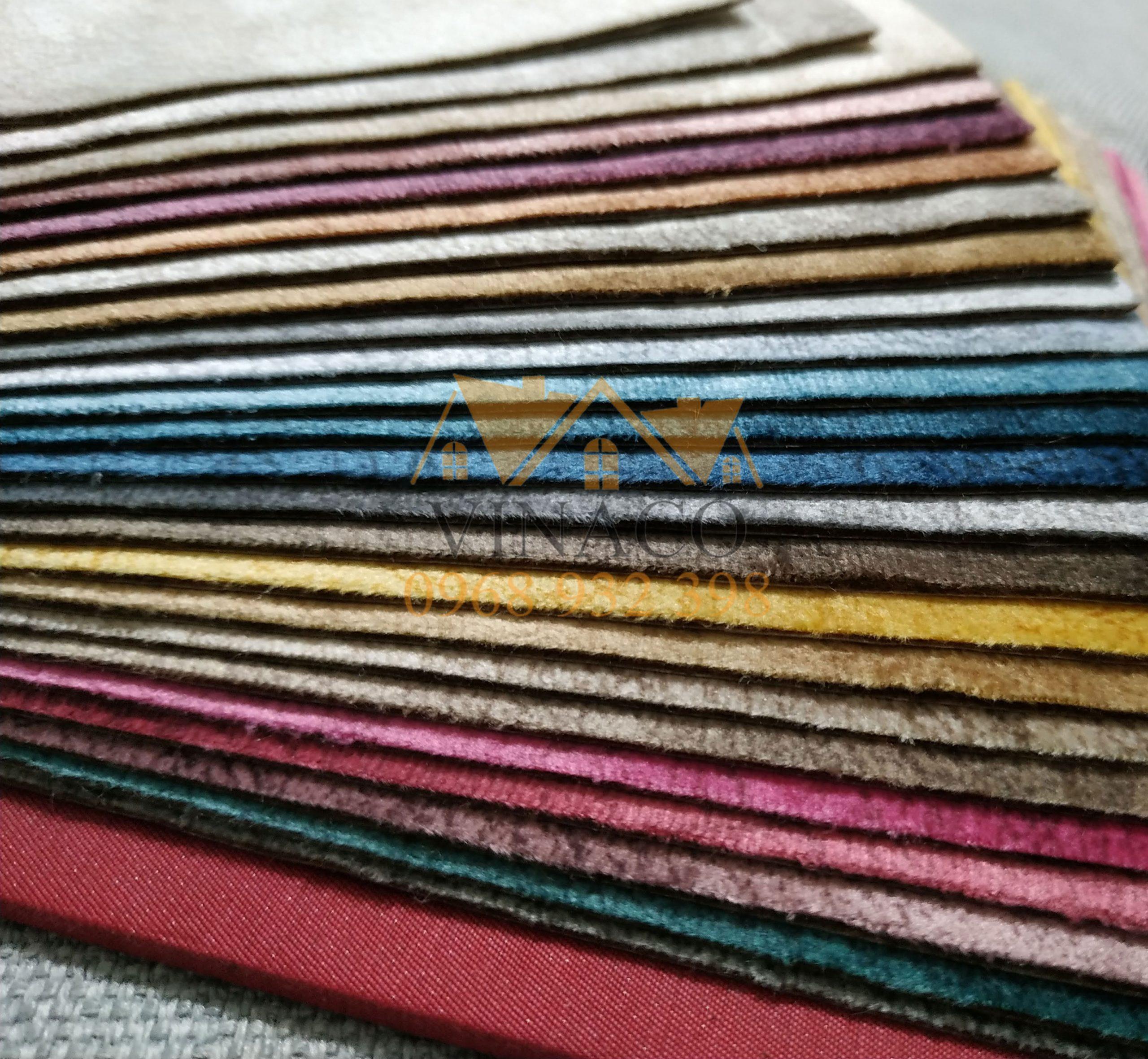 Rất nhiều màu sắc để lựa chọn theo sở thích trong mẫu vải nhung giả da này