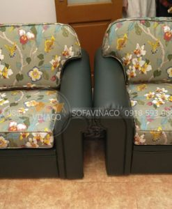Ghế đã được bọc lại bằng vỏ bọc ghế mới