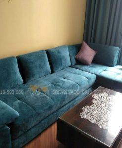 Ghế đã được cắt và tạo thành một bộ sofa mới