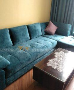 Ghế đã được bọc lại bằng vải nhung