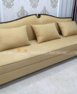 đệm ghế sofa vải sau khi bọc lại