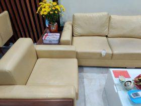 hình ảnh đệm ghế sofa da cũ