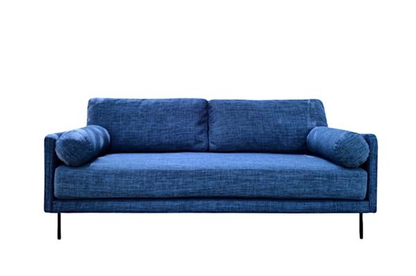 Sofa văng chất liệu vải nỉ xanh hải quân thanh lịch cho không gian gia đình thêm sang trọng, thanh lịch