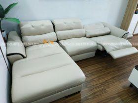 Bộ ghế sofa góc chữ l nhà bác Chung tại Nguyễn Quý đức, Thanh xuân, Hà Nội đã được bọc xong