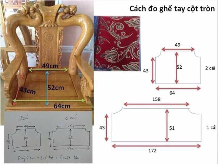 Cách đo ghế đồng kỵ cho ghế tay vịn