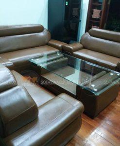 công trình bọc ghế sofa da cỡ đại tại hà đông