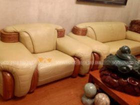 bộ ghế sofa bọc da Nano