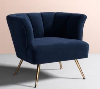 Sofa đơn armchair xanh hải quân tiện nghi cho không gian