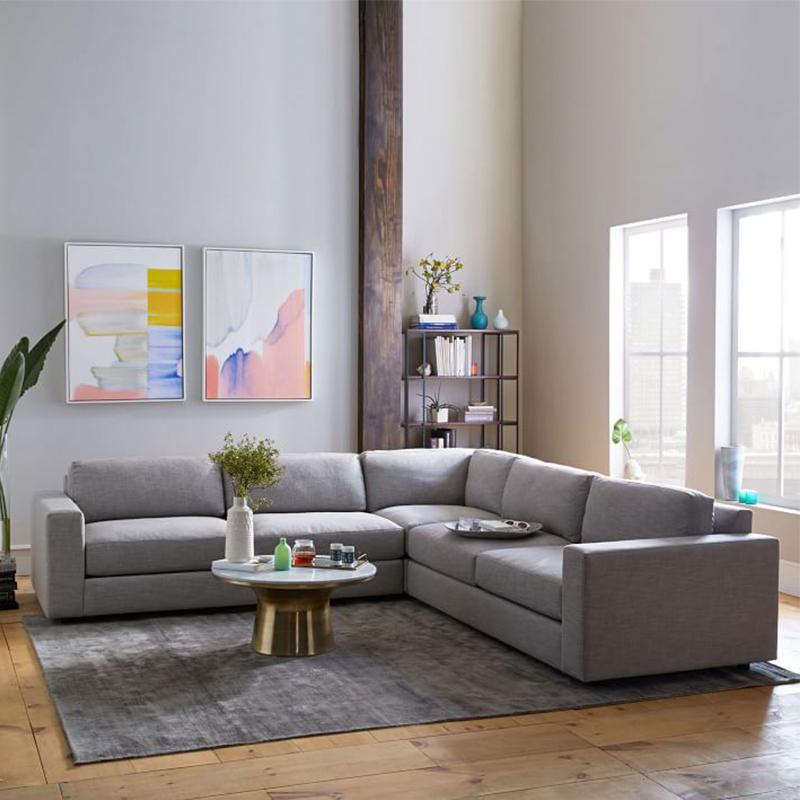Màu sàn nhà với màu sofa với màu xám trong không gian