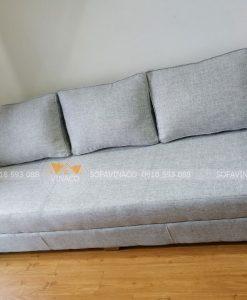 Bộ ghế sofa sau khi được nhân viên Vinaco bọc xong trực tiếp tại nhà anh Hiển