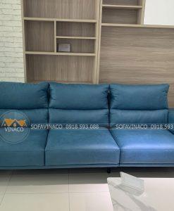 Sofa văng sau khi được đóng mới theo mẫu tại chung cư Thái Hà constrexim