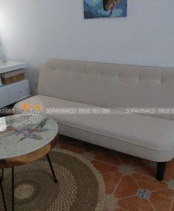 Bộ ghế sofa Văng sau khi được Vinaco thay vỏ bọc ghế hoàn thành- Đây là kết quả