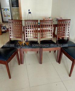 Bọc ghế ăn da Simili Mart cho chị Trang tại chung cư ChelseaPark đã