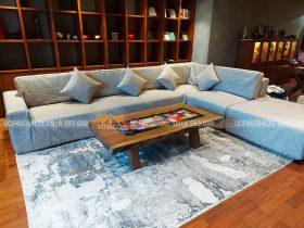 May vỏ ga chùm vải nỉ cho sofa góc tại Hoàng Mai, Hà Nội