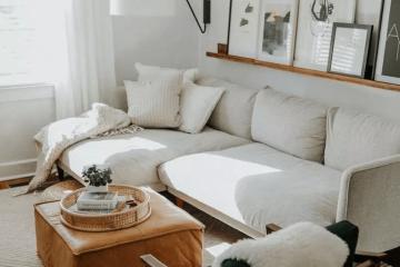 Sofa màu be ĐẸP, phù hợp với mọi không gian phòng khách