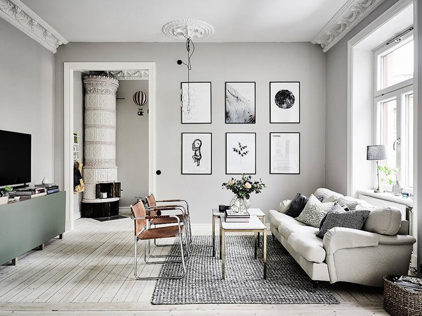 Ý tưởng thiết kế nội thất cho phòng khách thêm hiện đại với gam màu trung tính